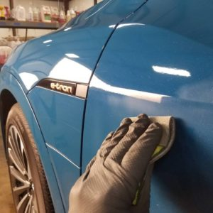 NYIAS Audi Etron paint correction