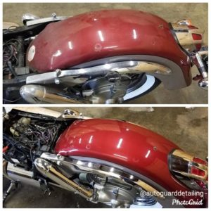 single step polished motorcycle